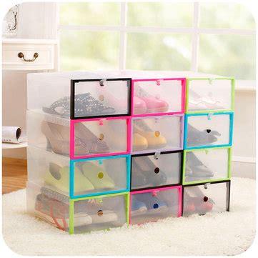 diy shoe box drawer multifunction plastic transparent shoe storage box diy
