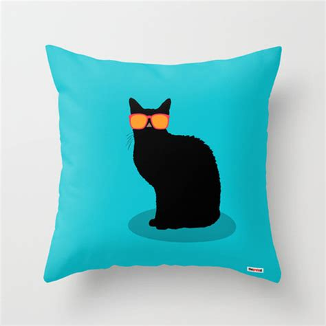 Cool Pillow Covers by Cool Cat Throw Pillow Cover Cushion Cover Modern Pillow