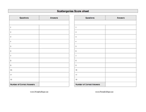 printable scattergories cards image gallery scattergories sheets