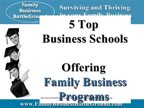 Top 5 Mba Schools by 5 Top Business Schools Offering Family Business Programs
