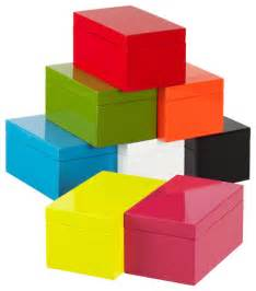 Storage Box Containers - medium lacquered rectangular box by the container store modern decorative boxes by the