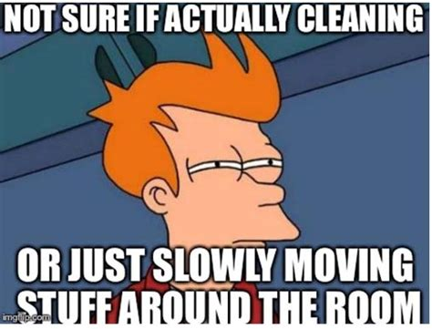 Housekeeping Meme - dirty little spots stay at home mum