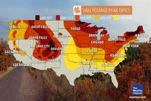 fall color map plan your autumn cing trip around these peak fall