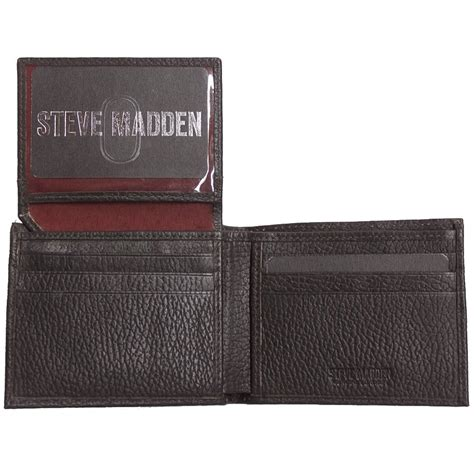 Steve Madden Wallets For by Steve Madden Mens Genuine Leather Antique Billfold Id Trifold Wallet New