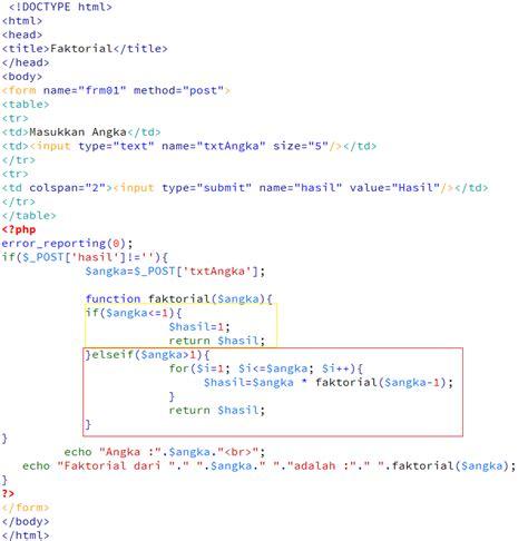 cara membuat kotak pencarian di web dengan php rumus faktorial matematika dengan php kursus web programming