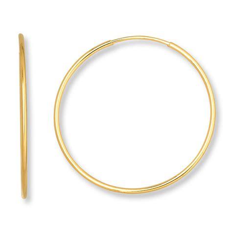 jared endless hoop earrings 14k yellow gold 21mm