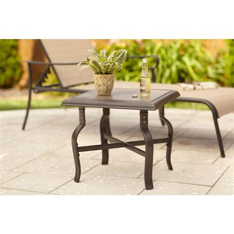 Home Depot Patio Table Hton Bay Belleville Patio Side Table Fts80584b The Home Depot
