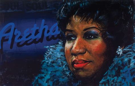 Larger Than Aretha Franklin Is Still A Big Big by Crisasantos Br Aretha Franklin Painting