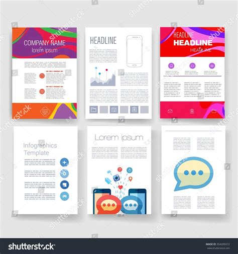 Brochure Design Template Set Templates Design Stock Vector 354209372 Shutterstock Mail App Templates