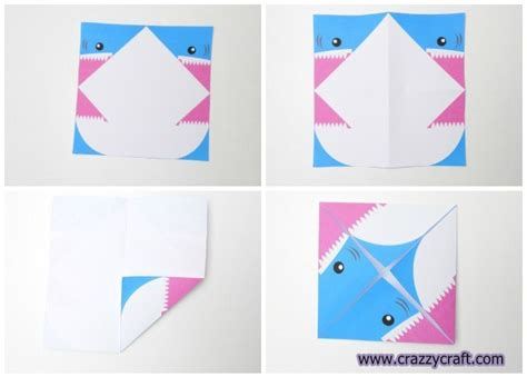 How To Make A Paper Shark - how to make paper shark crazzy craft