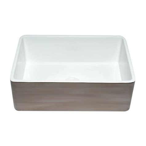 Alfi Farmhouse Sink by Alfi Brand Farmhouse Fireclay 30 In Single Bowl Kitchen