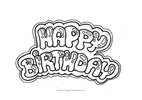 happy birthday coloring letters  print   video