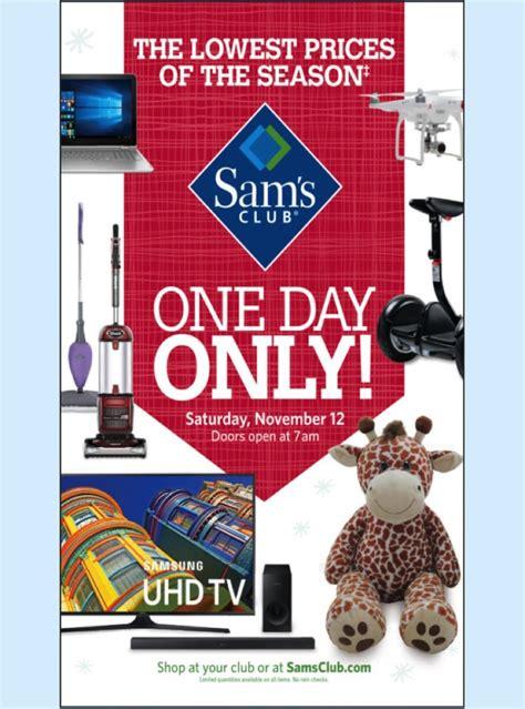 sneak peek sams club  day sale special event ad nov