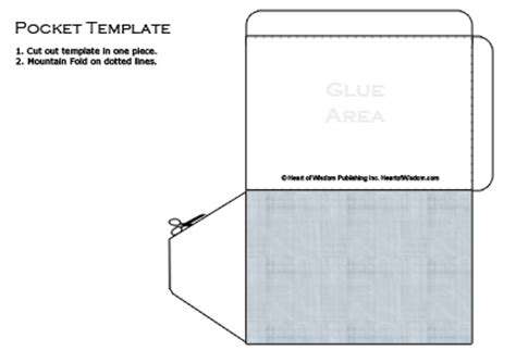cards and pockets free templates 6 best images of pocket template printable printable