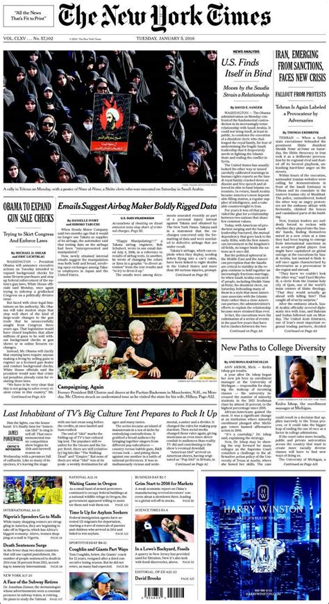 new york times newspaper new york times usa newspapers in usa tuesday