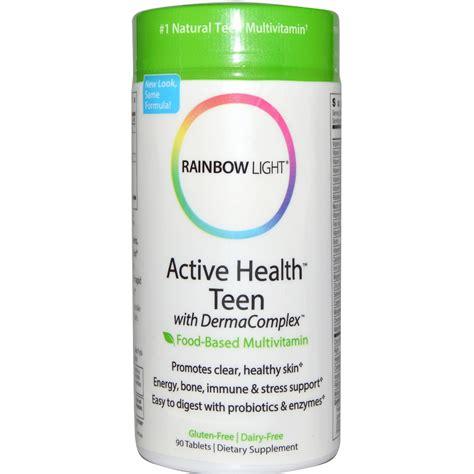 rainbow light active health teen rainbow light active health teen with derma complex food