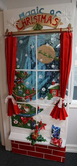 santas house of games xmas door decoration diy door decoration for cathy