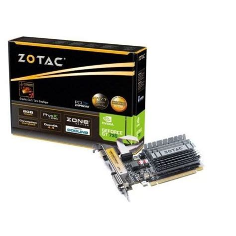 Vga Zotac Gt 730 Zotac Geforce Gt 730 Zone Edition 2gb Ddr3 64bit Dvi Hdmi