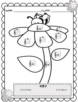 elementary music coloring pages music coloring sheets spring easter color by note