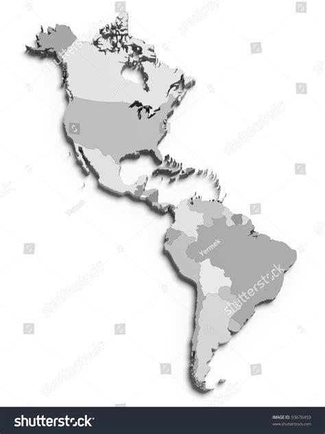 america map grey 3d grey map south american stock illustration