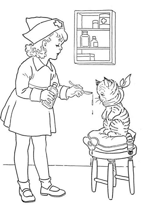 boy nurse coloring page free printable coloring pages for kids hospital nurse
