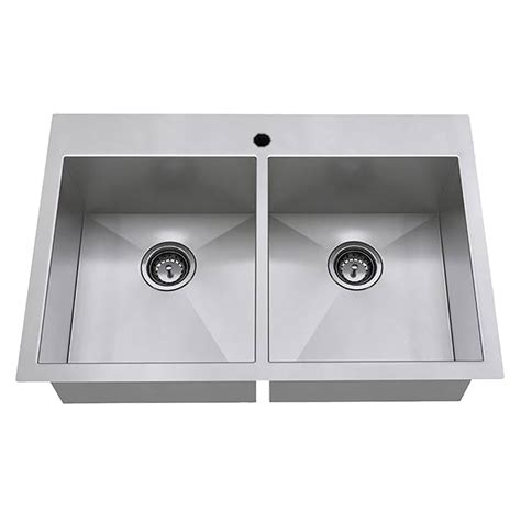 stainless steel kitchen sinks edgewater 33x22 bowl stainless steel kitchen sink