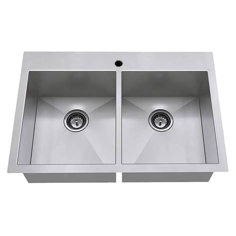 Prevoir Stainless Steel Undermount 3 Bowl Kitchen Sink