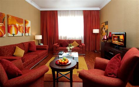 red livingroom comfortable living room decorating ideas with red sofa