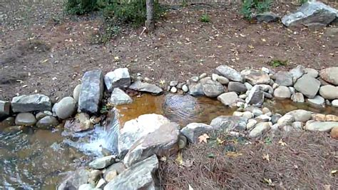 diy backyard stream backyard stream waterfall and pond youtube