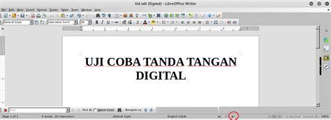 software untuk membuat tanda tangan digital bukti kalau dokumen tersebut sudah ditandatangani secara