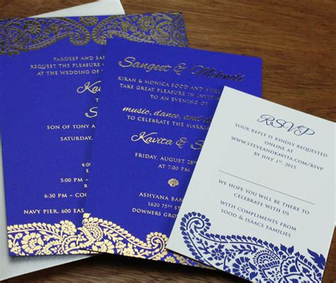 Quality Card For Wedding Invitations by Make A Statement Foil Sted Indian Wedding Cards