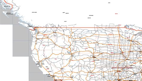 usa map vector ai major roads states cities relief