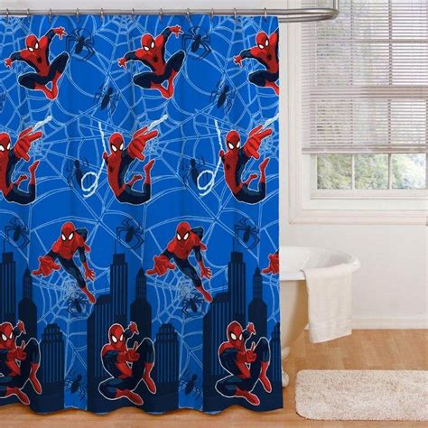 marvel shower curtain marvel spider man shower curtain shower curtains bath