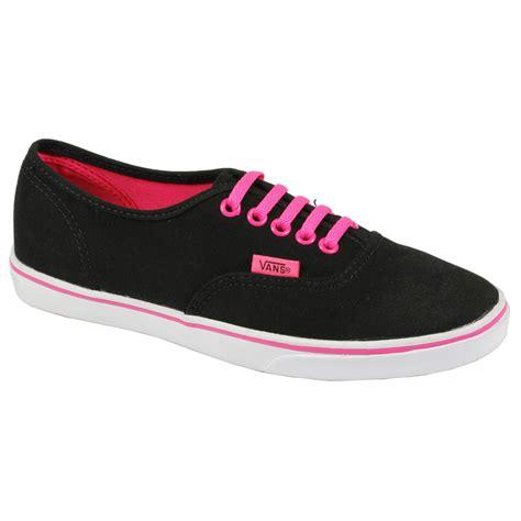 lo pro vans authentic sneaker skate plimsoll black pink