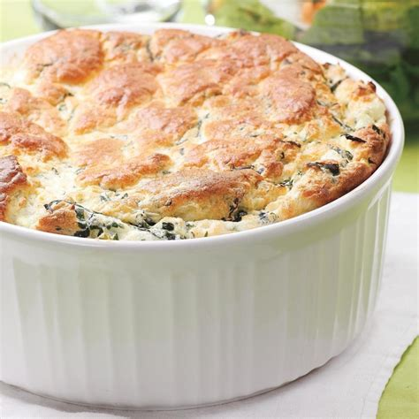 spinach cheese souffle spinach feta souffle recipe eatingwell