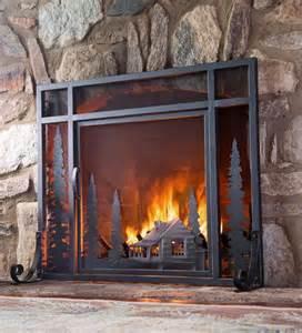 firescreen with door steel mesh small large screen