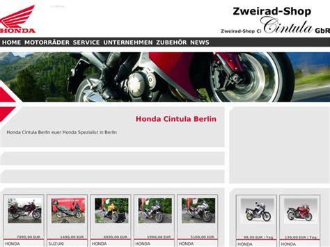 Motorradverleih Bremen by Zweirad Shop Cintula Gbr In Berlin Motorradh 228 Ndler