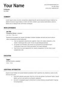 Free Resume Templates Professional Cv Format Printable