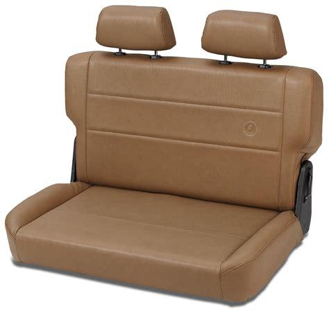 early bronco seats bestop trailmax ii fold tumble vinyl rear bench spice