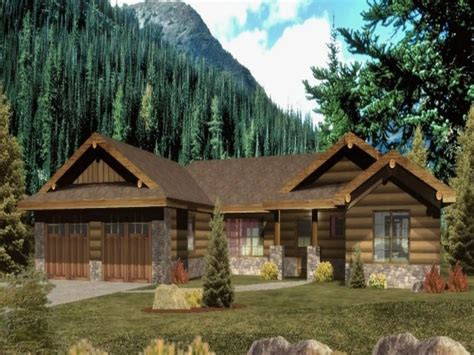 log style homes ranch style log homes with wrap around porch ranch style