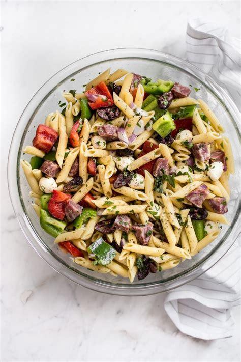 Simple Side Salad With Herbs Chagne Vinaigrette by Easy Italian Pasta Salad Recipe Salt Lavender