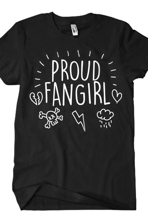 Proud Fangirl Tee (Black) T-shirt - Bryan Stars T-shirts