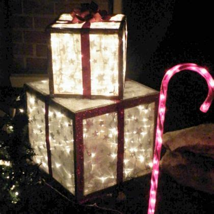 home made outdoor christmas decorations diy outdoor presents build your own lawn display of