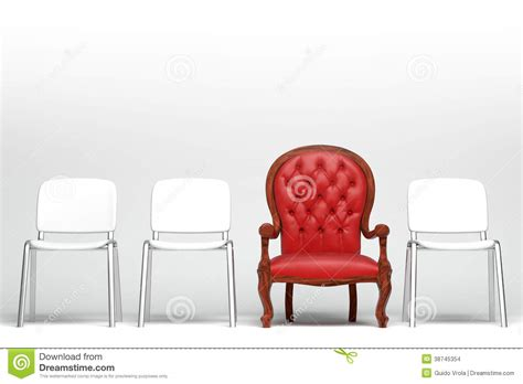 the red armchair the red armchair stock images image 38745354