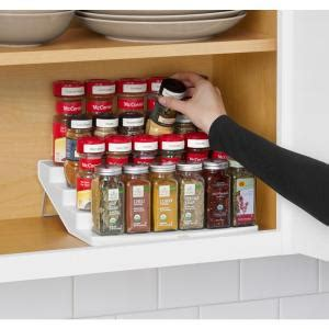 youcopia spicesteps 4 tier cabinet spice rack organizer youcopia spicesteps 4 tier cabinet spice rack organizer