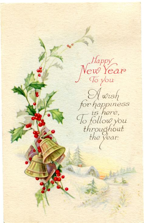 new year postcard post card archives vintage crafts and more