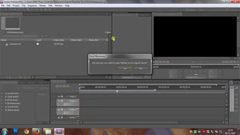 adobe premiere pro workspace how to reset workspace in adobe premiere pro in 10 seconds