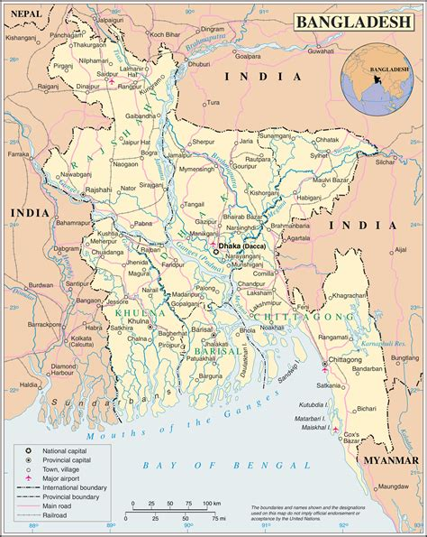 map of bangladesh maps of bangladesh detailed map of bangladesh in tourist map of bangladesh road