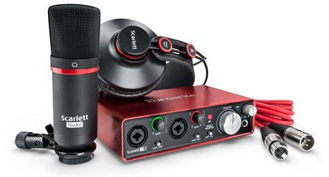 Focusrite Studio 2i2 Studio 2nd Generation Free Pop Filter focusrite 2i2 studio 2nd complete recording package