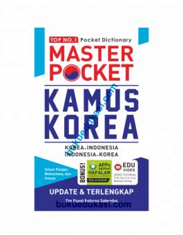 Kamus Korea Best Of The Best master poket kamus korea buku edukasi